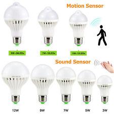 LED PIR Motion / Sound Sensor Bulb Night Stairs Corridor Light 3W 5W 7W 9W 12W