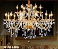 European Dimmable led Crystal Chandelier living room bedroom pendant lamp light