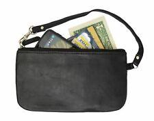 RFID Safe Soft-Sided Premium Leather Zippered Wristlet Wallet.