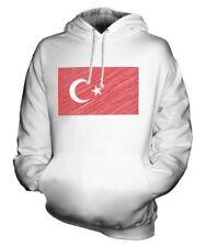 Turchia Scarabocchiato Bandiera Felpa Unisex Maglia Idea Regalo Turchia Turco