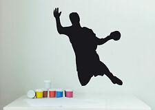 Wandaufkleber: Handball Spieler Handball Sport Kinderzimmer Deko Ball WandTattoo