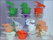 Dinosauri tema cupcake Wrappers x12 in modo univoco per la visualizzazione CUPCAKES