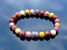 Buddha Mookaite Natural Gemstone Bracelet 6-9'' Elasticated Healing Stone Chakra