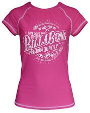 Womens Billabong Surf Day Pink Rashie - Rash Swim Top. Size 8-12. NWT, RRP$45.99