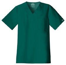 Cherokee Scrubs Workwear Men's Scrub Top 4743 Hunter Green HUNW Cherokee Stretch