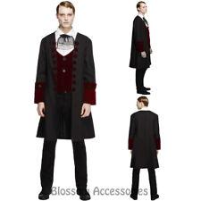 CL924 Fever Gothic Vamp Vampire Dark Dracula Halloween Horror Mens Fancy Costume