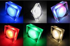 Crystal LED Ceiling Recessed Light Fixture Square Lamp Showcase Bedroom Corridor