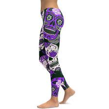 Cráneo de Mujer de Verano Pantalones de Yoga Pantalones Leggings Deporte  Yoga calle Caliente Pantalones Informales 89be541c7ff3