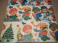"Vtg. Christmas Gift Wrap Paper 20"" x 30"", Black Snowflake Misprint?, NOS"