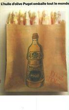 PUBLICITE ADVERTISING   1988   PUGET l'huile qui emballe tout le monde