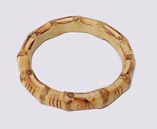 One piece Hand made bamboo wristband bracelet natutal bamboo root unisex 手工竹手环