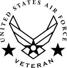 Air Force united states Veteran vinyl decal sticker