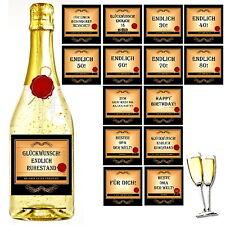Flaschenetikett Sekt Wein Aufkleber Geschenk Etikett Oma Opa Ruhestand Rente