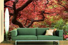 3D Red Maple tree 1 WallPaper Murals Wall Print Decal Wall Deco AJ WALLPAPER