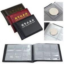 60 Coins Collection Holders Storage Money Penny Pocket Album Book Folder KDZB