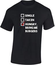 Hungry PORTAMI HAMBURGER T-Shirt Divertente Scherzo Humor regalo di compleanno amante dei fast food