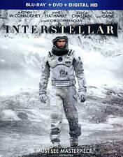 Interstellar (Blu-ray DVD 2-Disc SET w FILM CELL! Like New MINT Slip Cover FAST