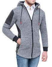 Cardigan Men's Jacket Tweed Grey Casual Winter Jacket Hoodie
