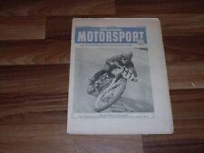 ILLUSTRIERTER MOTORSPORT  1.7.1953 Motorrennsport in d. DDR/500 ccm BMW-Werksma.