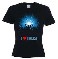 I LOVE IBIZA WOMEN'S T-SHIRT - Space Pacha Clubbing Clubwear Amnesia - Sz S - XL