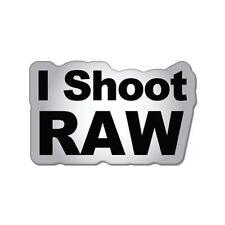 I Shoot Raw Photographer Car Vinyl Sticker - SELECT SIZE