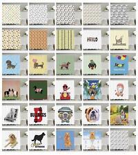 Dog Shower Curtain Fabric Bathroom Decor Set with Hooks 4 Sizes Available