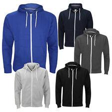 New Mens Boys Hoody Sweatshirt American Style Zip Up Hooded Fleece Jacket Top