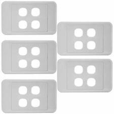 4 Gang Wall Plate Light Switch Wallplate Cover Mech Insert Clipsal Style