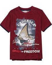 BOBOLI Boys T-shirt with Ocean Print, Sizes 4-16