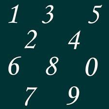7 cm Zahlen Aufkleber Klebezahlen Ziffern Sticker 1 bis 200 Stück weiß SA-69