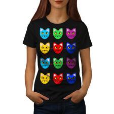 Colorful Cute Furry Cat Women T-shirt NEW | Wellcoda