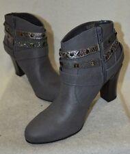 Jennifer Lopez Women's Erykah Studded Grey Ankle Boots - Size 10