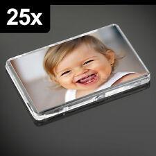 25x Premium Klare Acrylglas, Ohne Druck Kühlschrankmagnete 70 x 45 mm Große Foto