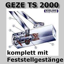 GEZE TS 2000 V Türschliesser komplett mit Feststell-Gestänge ein-aus Schaltbar
