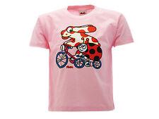 T-shirt Pimpa e Coccinella in Bicicletta Rosa