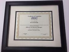 "1.5"" Black Document Frames w/2 Mats (Best Pricing)"