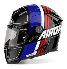 AIROH GP500 Scrape Blue/Black Gloss Carbon-Kevlar MotoGP Light Motorbike Helmet