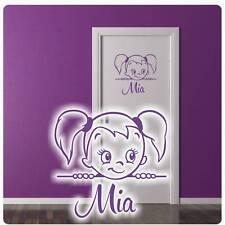 Mädchen Name Tür Aufkleber Türaufkleber Wandtattoo Türsticker Kinderzimmer T421