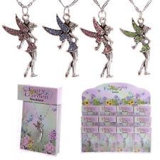 "Fairy Secret Garden Gemstone 18"" Necklace Gift Fairies Pendant Kids Christmas"