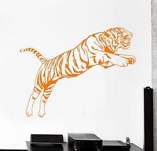 Wall Vinyl Decal Tiger Jungle Animals African Predator Jumping Bedroom z3833
