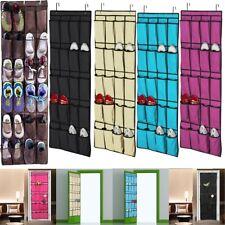 24/20Pocket Over the Door Shoe Organizer Rack Hanging Storage Space Saver Hanger