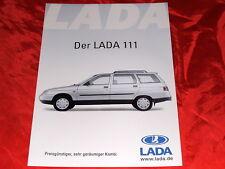 LADA 111 Li 8V + GLi 16V Prospektblatt von 2003