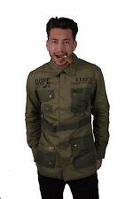 MARIHUANA Hombre Estándar Cuestión M65 Estilo Militar Chaqueta