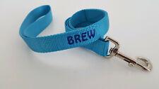 Embroidered Nylon Dog Leash, Harmon Mae Pups, 25 Colors, 8 Sizes Lead Puppy