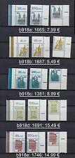 BRD 1381, 1665, 1687, 1691, 1746 Eckraender OR OL UR ** bitte auswaehlen! #b918