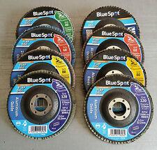 "115mm 4.5"" Aluminium Zirconium Oxide Flap Disc 40 60 80 120 Grit Metal Inox Wood"