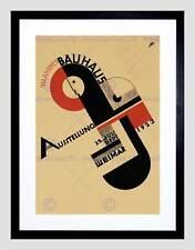 Icona Mostra Bauhaus Weimar Germania vintage con pubblicità incorniciato stampa b12x708