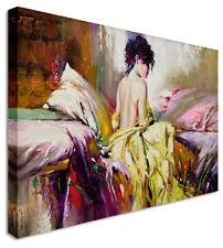 GRANDE dipinto a FATA NUDO art. a muro letto foto ACQUERELLO