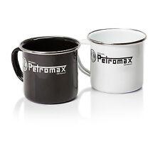 Petromax Emaillle Becher Tasse Mug Email schwarz & weiß