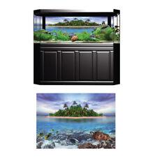 3D Island Tree Reptile Aquarium Background Picture Backdrop Fish Tank Decor